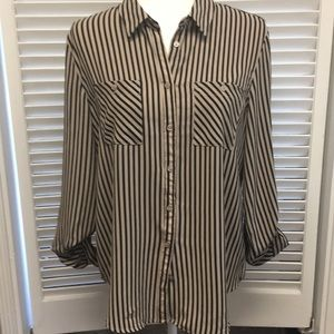 Christopher and Banks striped blouse